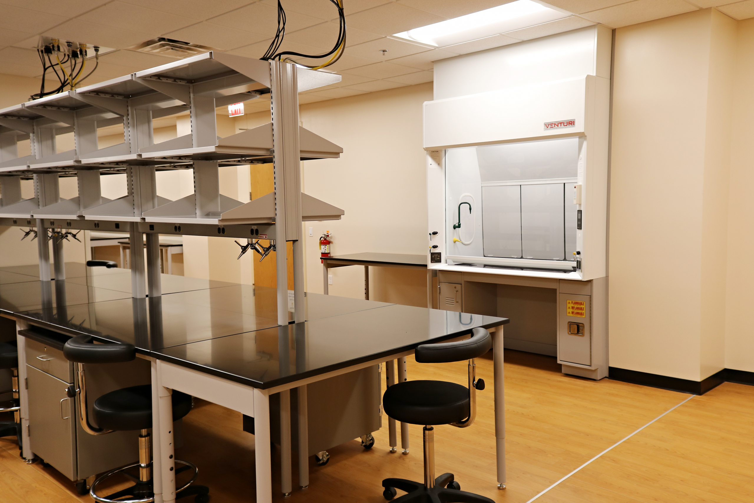 newly renovated lab space